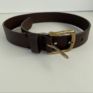 NWT Gap Boys Brown Leather Belt Size 6/7
